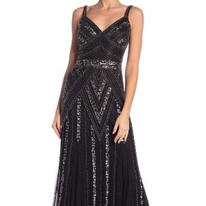 MARINA heavy black lined gown